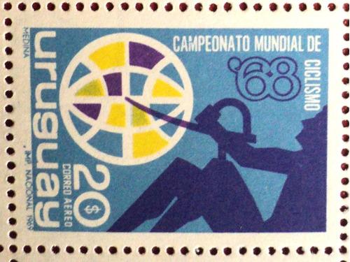 osl sello aéreo 348 mint uruguay ciclismo deportes
