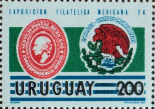 osl sello aéreo 392 mint uruguay expo filatelia