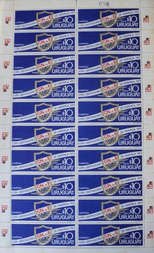 osl sello plancha uruguay nacional campeón américa 71 fútbol