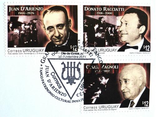osl sello sobre  fdc tango darienzo racciatti música