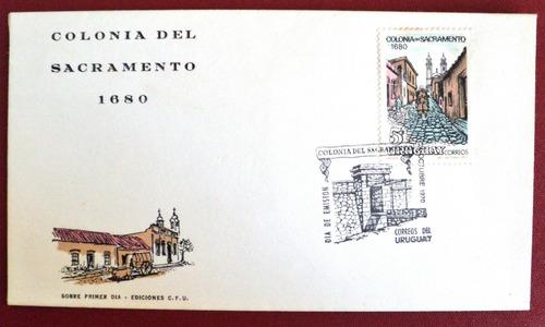 osl  sello sobre fdc uruguay  colonia del sacramento 1970