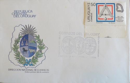 osl sello sobre uruguay masoneria escuadra