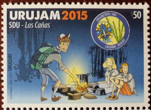 osl sello uruguay boy scout urujam