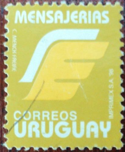 osl sello uruguay mensajerias año 1998 sin  porte mínimo