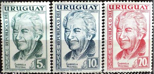osl sellos 658/60 mint uruguay mistral precio x todos