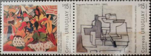 osl sellos uruguay pintores barradas - torres