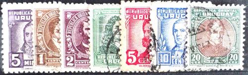 osl serie sellos 560 al 566 uruguay personalidades