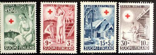 osl serie sellos finlandia agua sauna cruz roja