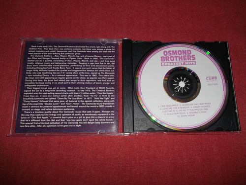 osmond brothers - greatest hits cd usa ed 1992 mdisk