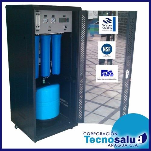 osmosis inversa 800 gpd en caja de acero comercial