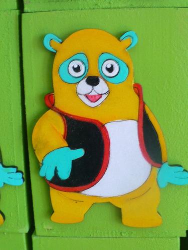 oso agente especial- adorno torta - golosineros