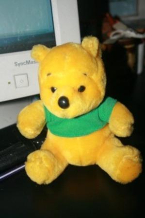 oso amarillo de peluche