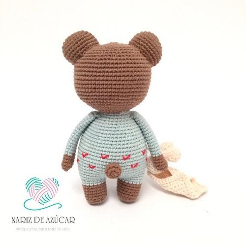 oso de apego crochet - nariz de azúcar amigurumis