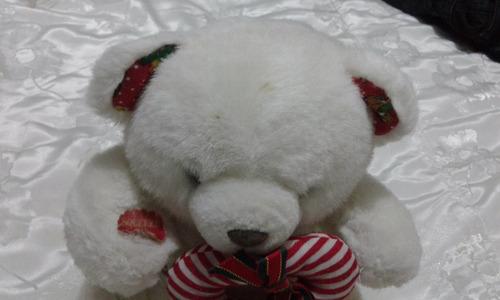 oso de peluche blanco navideño