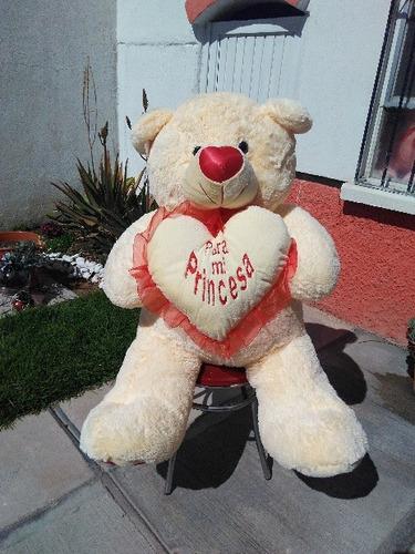 oso de peluche dany gigante 1.20 m bordado
