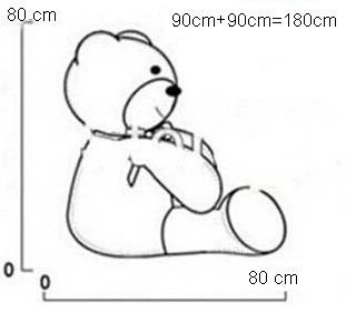 oso de peluche gigante 1.80 mts combo + dije + tarjeta 3d