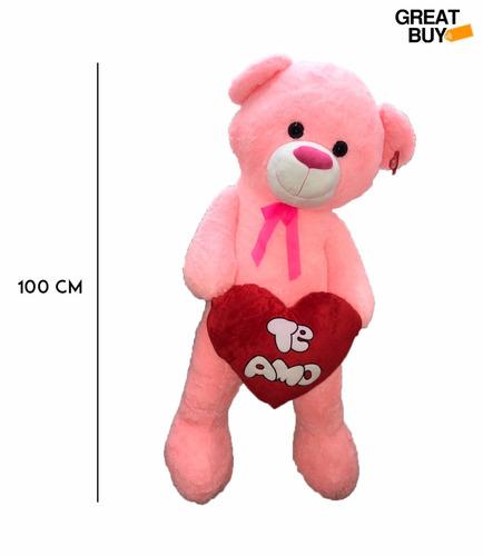 oso de peluche gigante 1mt sentado con corazon enamora 7865c