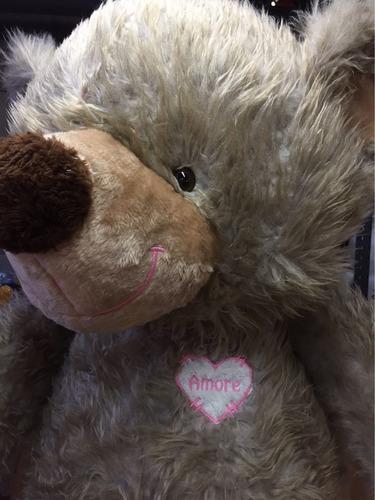 oso de peluche gigante 2m gris melange + corazon + envio