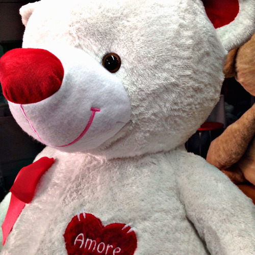 oso de peluche gigante 2mt!! blanco + corazón pers.+ envio.