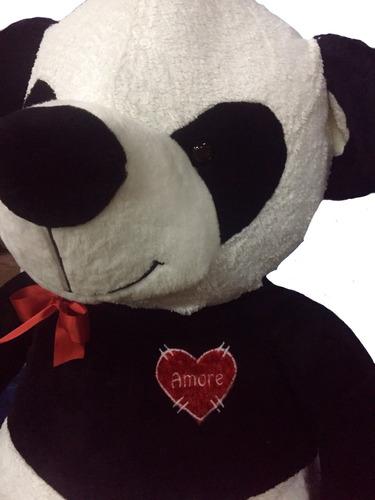 oso de peluche gigante 2mt. panda + corazón pers + envio.