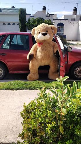 oso de peluche gigante largo color café 1.8 metros parado