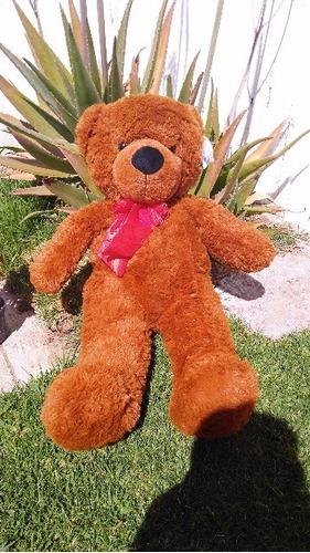 oso de peluche grande color café bicolor 80 cms largo