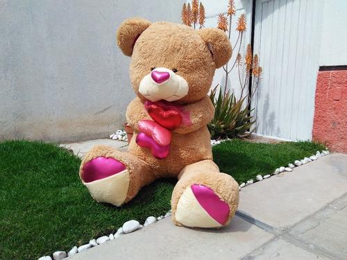 oso de peluche jumbo con globos 1.65m