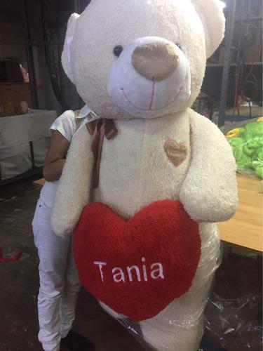 oso de peluche mega! 2,4mts beige + envio + corazón.