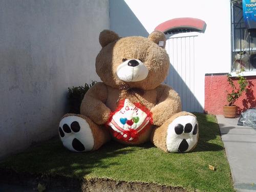 oso de peluche mega jumbo café  (sin cojin)