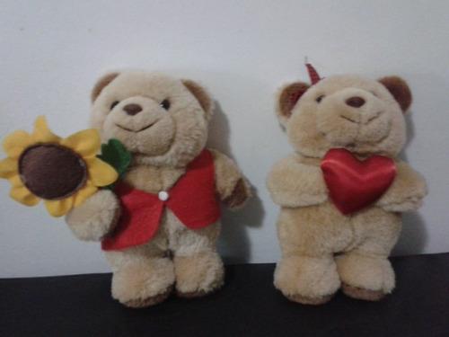 oso de peluche pareja 21 cm alto