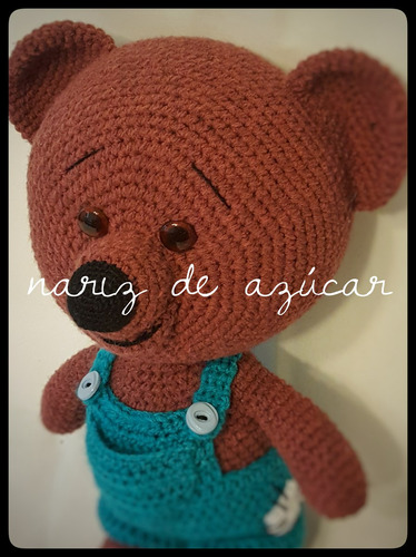 oso entrega inmediata! -  nariz de azúcar amigurumis