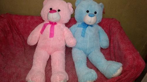 oso gigante de peluche rosa y celeste- ideal nacimientos