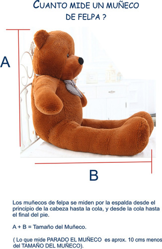 oso gigante sonriente exclusivo 2 metros  + envio gratis