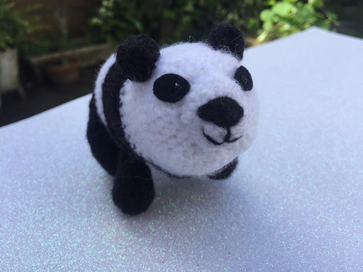 Amigurumis oso panda : Oso panda amigurumi crochet muñeco peluche $ 150 00 en mercado libre