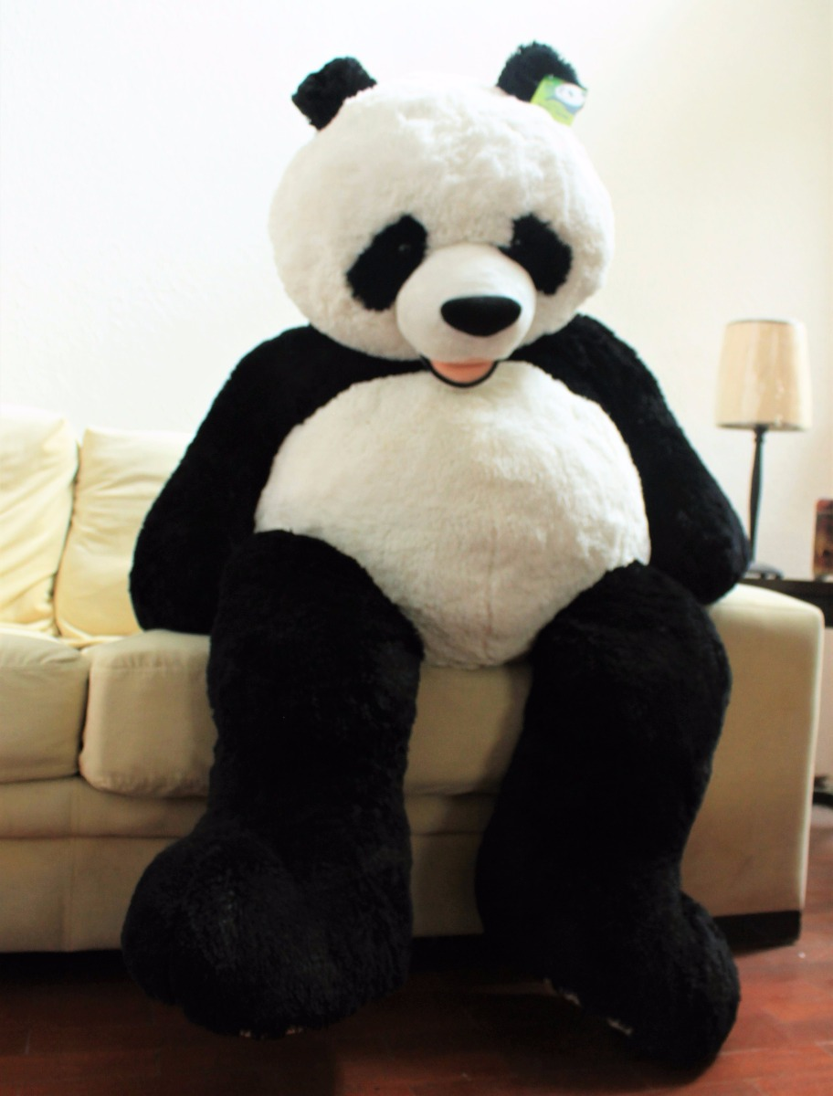 oso panda de peluche gigante hug fun 134 cm 1 en mercado libre. Black Bedroom Furniture Sets. Home Design Ideas