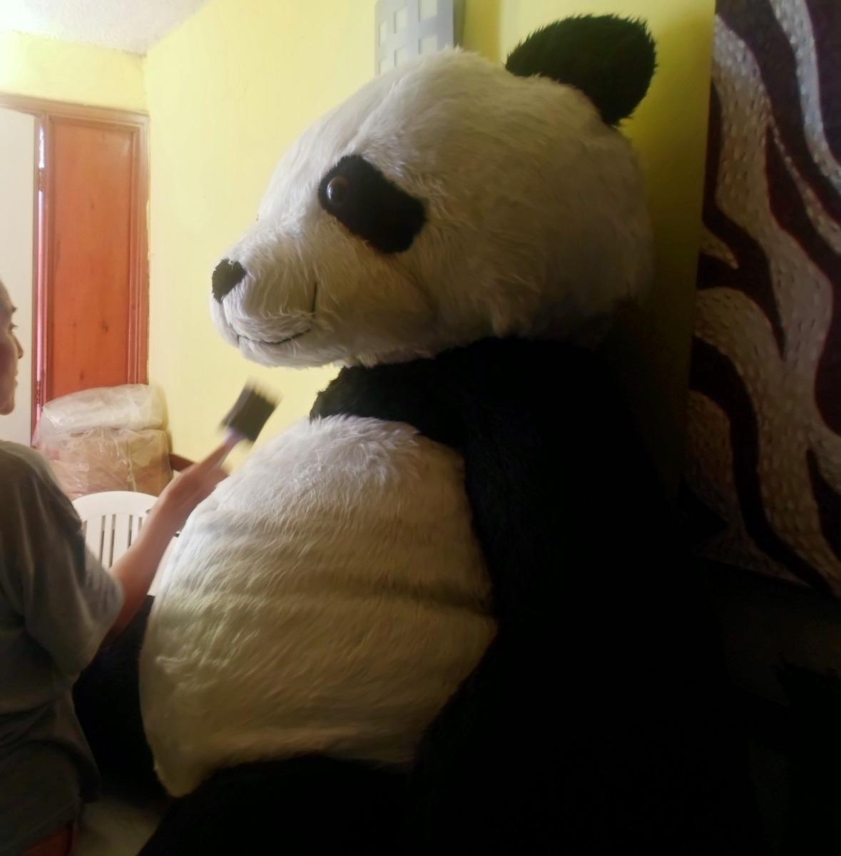 oso panda gigante de peluche 2 mts altura jumbo super. Black Bedroom Furniture Sets. Home Design Ideas
