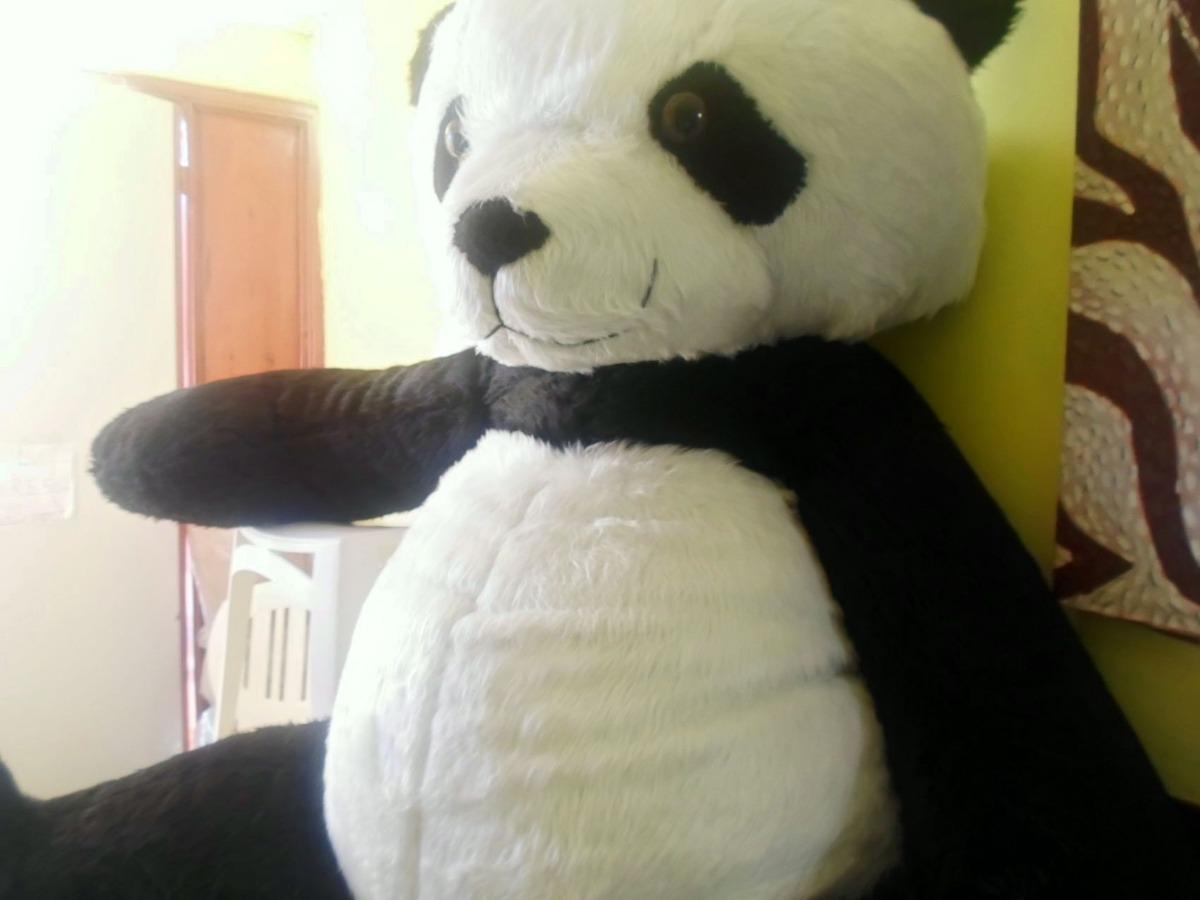 oso panda gigante de peluche 2 mts envio gratis regalo. Black Bedroom Furniture Sets. Home Design Ideas
