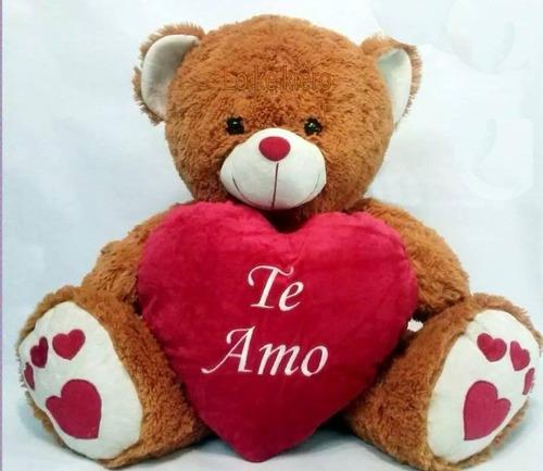 oso peluche grande con corazon bordado te amo