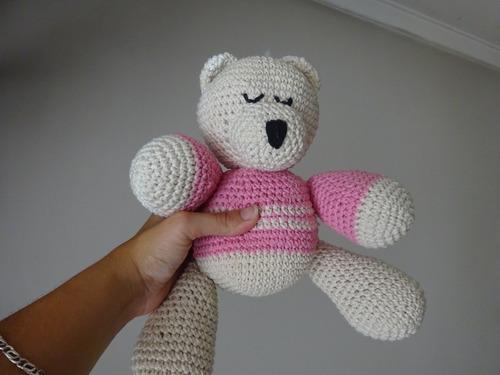 oso tejido nacimiento baby shower souvenirs deco cunas