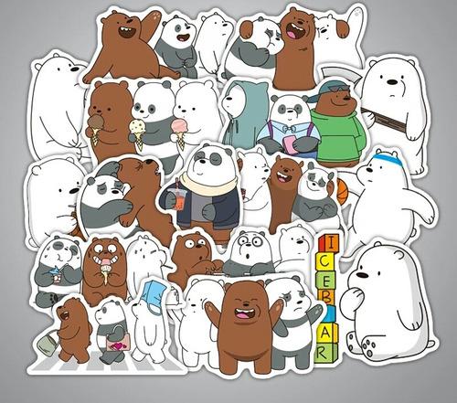 osos escandalosos 36 stickers calcomania pvc contra agua
