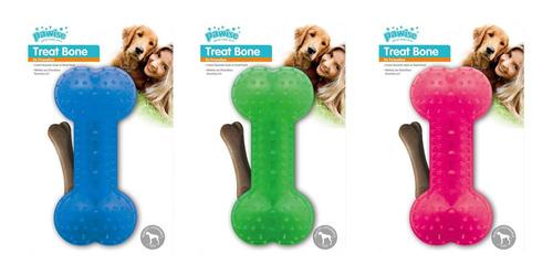osso porta petisco para cachorro - brinde 2 lacinhos pawise
