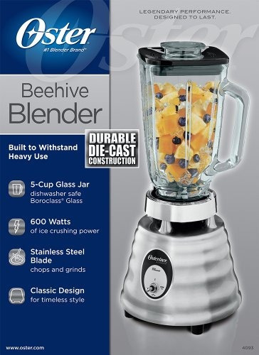 oster 4093008 5cup glass jar 2speed rrbeehive blender cepill