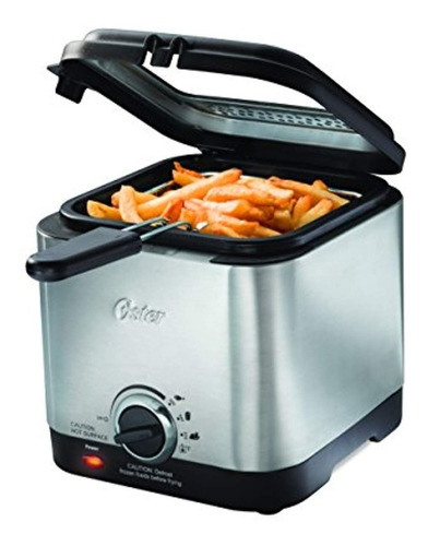 oster ckstdf102-ss style compact stainless deep fryer, stee