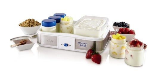 oster ckstym1010 mykonos greek manual yogurt maker 2quart