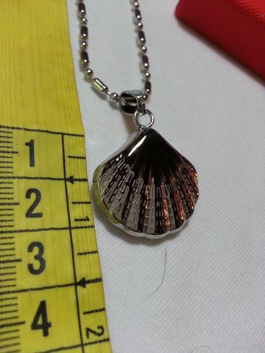 ostra de mar acero quirugico dije + cadena + caja