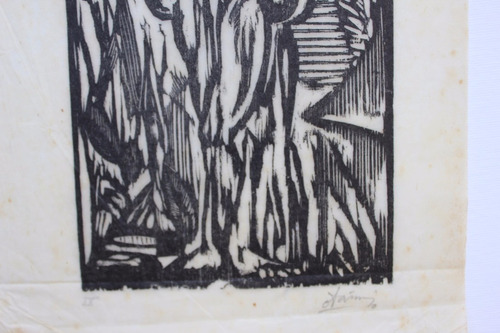 otavio araujo - xilogravura rara 30cm x 16cm