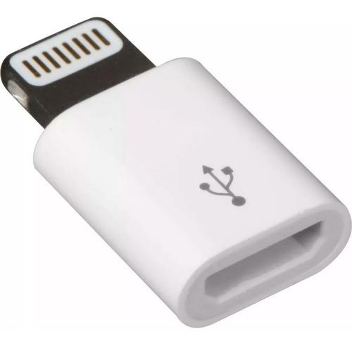 otg adaptador micro usb a lightning para iphone 5 6 7 blanco