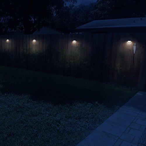 othway luces de poste de la valla solar iluminación de la