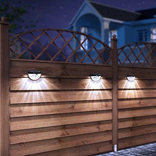 othway luces de poste de valla solar montaje de pared ilumin