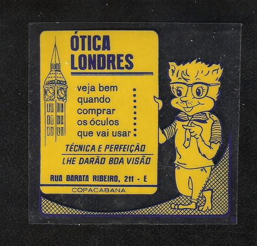 ótica  londres -copacabana  -plastico p/vidro interno